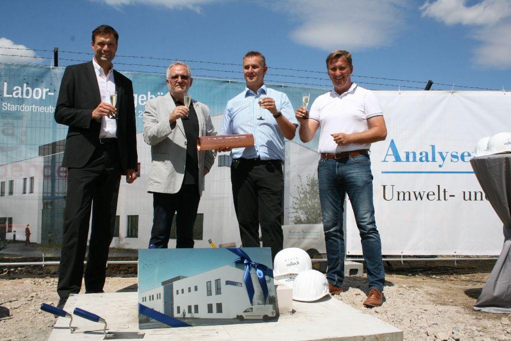 Grundsteinlegung der Analysenservice GmbH