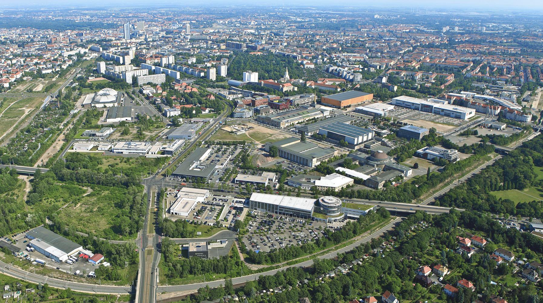 Luftbild Verkauf und Vermietung Alte Messe Leipzig