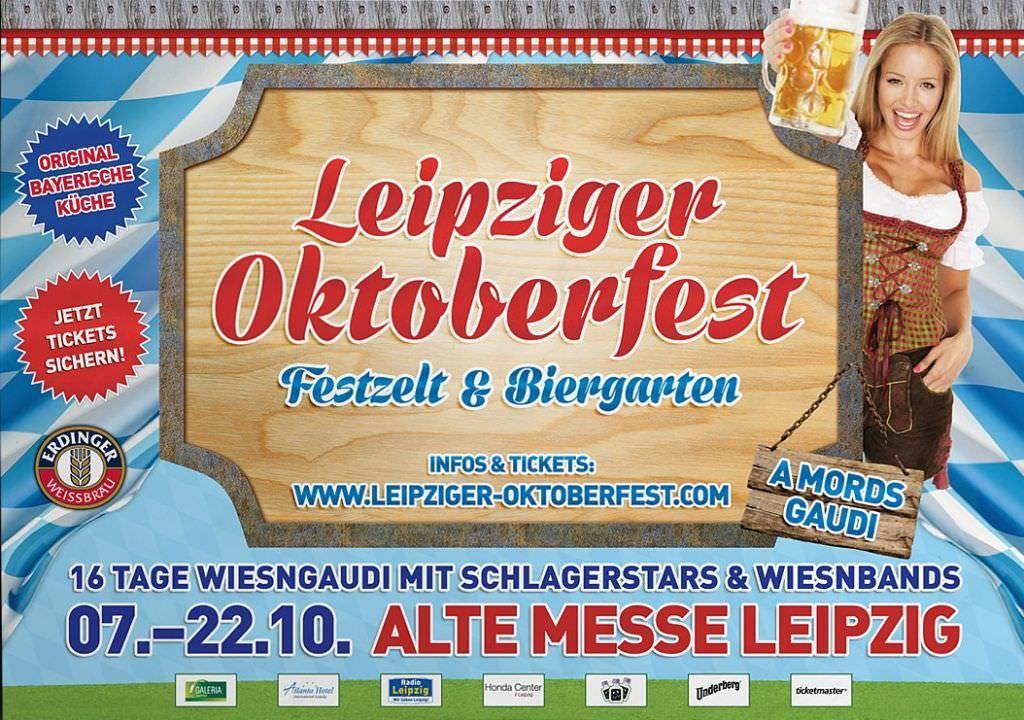 Plakat Oktoberfest in Leipzig