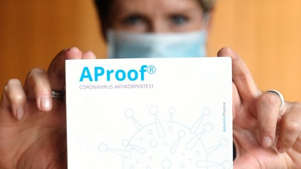 AProof Coronavirus Antikörpertest Quelle: Sebastian Willnow/dpa-Zentralbild/dpa